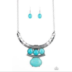 "Turquoise ""Commander in Chiefette"" Necklace Set"